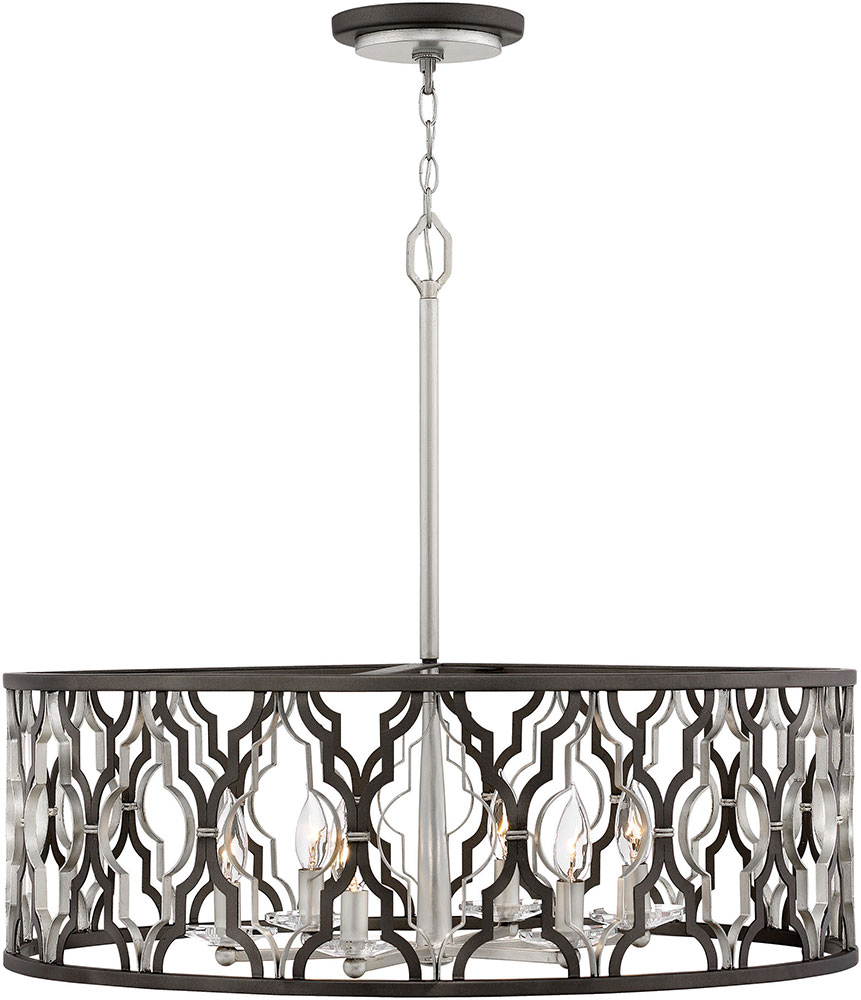 Hinkley 3066GG Portico Contemporary Glacial Gold Drum Hanging Light ...