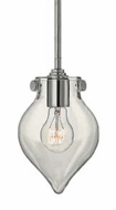 Hinkley 3139 Congress 6 Inch Diameter Clear Blown Glass Modern Mini Pendant Lamp