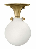Hinkley 3143 Congress Semi Flush Mount Round Opal Glass Ceiling Light - 7 Inch Diameter