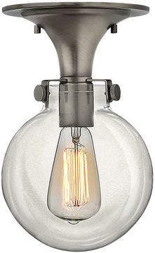 Hinkley 3149AN Congress Modern Antique Nickel Flush Mount Lighting