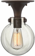 Hinkley 3149OZ Congress Contemporary Oil Rubbed Bronze Flush Mount Light Fixture