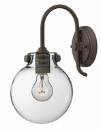 Hinkley 3174 Congress Round Clear Glass Wall Sconce Lighting Fixture - 13 Inches Tall