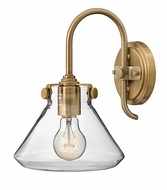 Hinkley 3176 Congress 11 Inch Tall Clear Glass Contemporary Wall Sconce Lamp