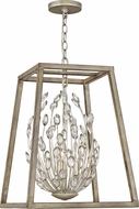 Hinkley 3183SL Loren Silver Leaf / Weathered Ash 16  Foyer Lighting Fixture