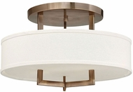 Hinkley 3201BR-LED Hampton Brushed Bronze LED 20  Flush Lighting