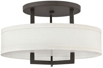 Hinkley 3201KZ-LED Hampton Buckeye Bronze LED 20  Flush Mount Lighting