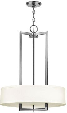 Hinkley 3203AN Hampton Antique Nickel 20  Drum Pendant Light