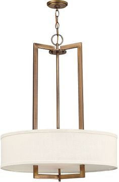 Hinkley 3204BR Hampton Brushed Bronze 26  Drum Hanging Pendant Lighting
