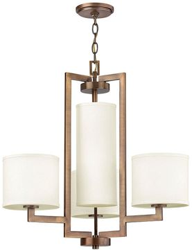 Hinkley 3209BR Hampton Brushed Bronze Chandelier Lighting