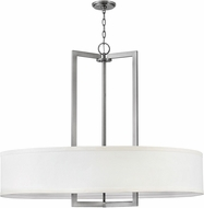 Hinkley 3219AN Hampton Modern Antique Nickel Drum Pendant Lamp
