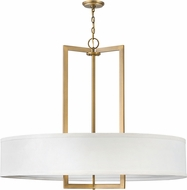 Hinkley 3219BR Hampton Contemporary Brushed Bronze Drum Hanging Lamp
