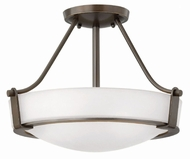 Hinkley 3220OB-WH Hathaway Olde Bronze Ceiling Light