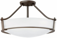 Hinkley 3221OB-WH-LED Hathaway Olde Bronze with Etched White Glass LED 20.75  Ceiling Light