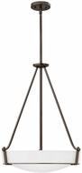 Hinkley 3222OB-WH-LED Hathaway Olde Bronze with Etched White Glass LED 20.75  Pendant Lighting Fixture