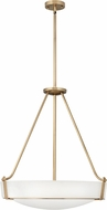 Hinkley 3224HB-LED Hathaway Heritage Brass LED 27  Hanging Pendant Light