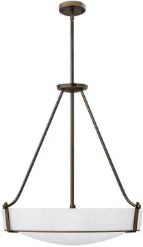 Hinkley 3224OB-WH-LED Hathaway Olde Bronze with Etched White Glass LED 26.75 Drop Lighting