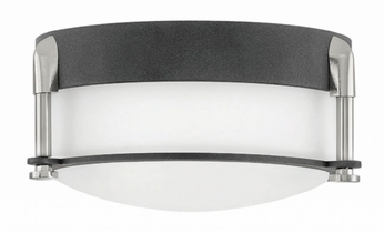 Hinkley 3230DZ Colbin Contemporary Aged Zinc LED Ceiling Light