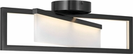 Hinkley 32503BLK Folio Contemporary Black LED Flush Mount Lighting Fixture
