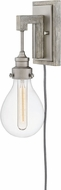Hinkley 3262PW Denton Contemporary Pewter / Driftwood Grey Wall Light Fixture