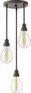 Hinkley 3263IN Denton Contemporary Industrial Iron Multi Drop Lighting Fixture