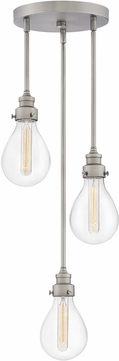 Hinkley 3263PW Denton Contemporary Pewter Multi Drop Lighting