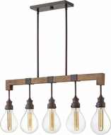 Hinkley 3266IN Denton Contemporary Industrial Iron Island Light Fixture