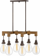 Hinkley 3268IN Denton Contemporary Industrial Iron 30  Kitchen Island Light