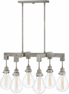 Hinkley 3268PW Denton Modern Pewter 30  Island Light Fixture