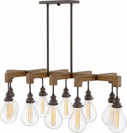 Hinkley 3269IN Denton Contemporary Industrial Iron 48  Kitchen Island Light Fixture