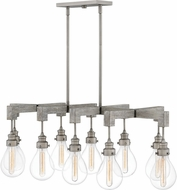 Hinkley 3269PW Denton Modern Pewter 48  Island Lighting