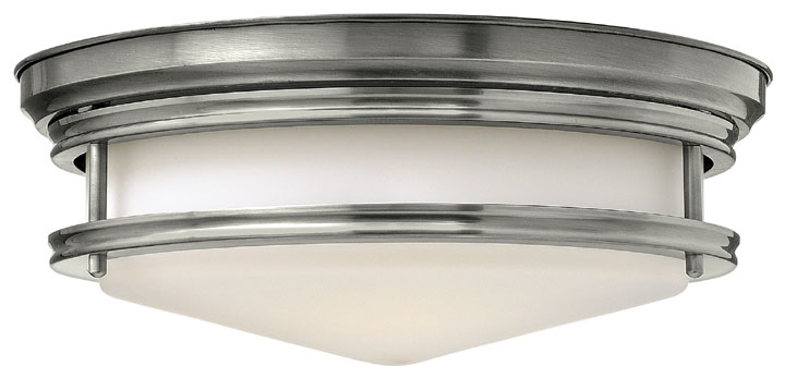 Hinkley 3301an Hadley Nautical Flush Mount Lighting Fixture Nickel Loading Zoom