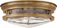 Hinkley 3302BR-CL Hadley Modern Brushed Bronze Overhead Lighting Fixture