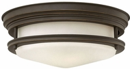 Hinkley 3302OZ-LED Hadley Oil Rubbed Bronze LED Flush Mount Lighting Fixture