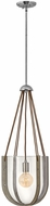 Hinkley 33204PNI Vaso Contemporary Polished Nickel Drop Lighting Fixture