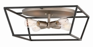 Hinkley 3331DZ Fulton Contemporary Aged Zinc Flush Mount Ceiling Light Fixture