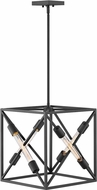 Hinkley 3374SK Hewitt Contemporary Satin Black 15  Foyer Lighting