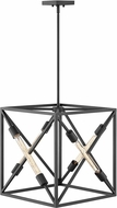 Hinkley 3375SK Hewitt Modern Satin Black 18  Foyer Light Fixture
