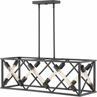 Hinkley 3378SK Hewitt Contemporary Satin Black Kitchen Island Lighting