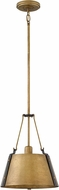 Hinkley 3397RS Cartwright Rustic Brass Mini Pendant Hanging Light