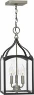 Hinkley 3413DZ Clarendon Aged Zinc 8  Foyer Lighting Fixture