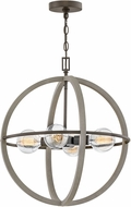 Hinkley 3424DC Bodie Modern Dark Cement / Bronze 20  Pendant Hanging Light