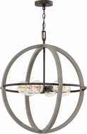 Hinkley 3426DC Bodie Contemporary Dark Cement / Bronze 25  Hanging Light Fixture