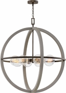 Hinkley 3428DC Bodie Modern Dark Cement / Bronze 32  Drop Lighting