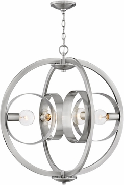 Hinkley 3434BN Orson Modern Brushed Nickel Ceiling Pendant Light