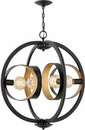 Hinkley 3434SK Orson Contemporary Satin Black Drop Ceiling Light Fixture
