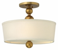 Hinkley 3441VS Zelda Contemporary Vintage Brass Finish 14 Inch Diameter Ceiling Lighting Fixture