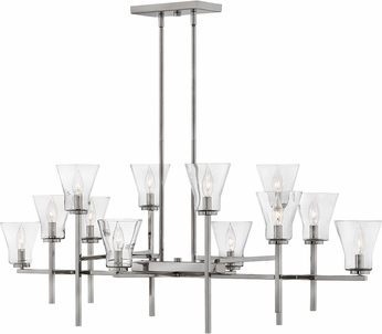 Hinkley 3459PL Arden Contemporary Polished Antique Nickel Island Light Fixture
