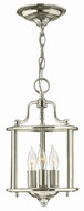 Hinkley 3470PN Gentry Polished Nickel Entryway Light Fixture