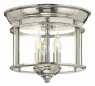 Hinkley 3473PN Gentry Polished Nickel Ceiling Light Fixture