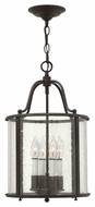 Hinkley 3474OB Gentry Small Transitional Olde Bronze 12 Inch Wide Foyer Pendant Lamp